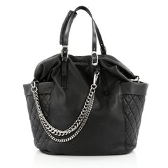 Jimmy Choo Blare Convertible Tote Leather Black