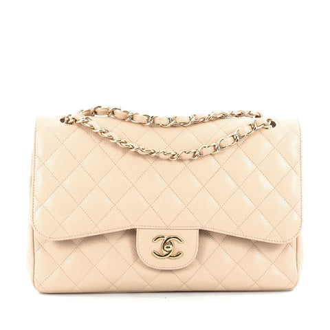 63b25145bdf9 Buy Chanel Classic Double Flap Bag Quilted Caviar Jumbo 1491201 – Rebag