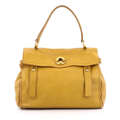 Saint Laurent Muse Two Handbag Leather Medium Yellow