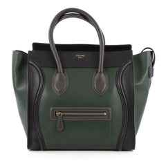 Celine Bicolor Luggage Handbag Leather Mini
