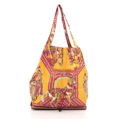 Hermes Silky Pop Tote Printed Silk Yellow