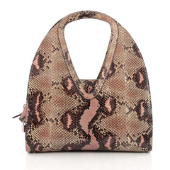 Salvatore Ferragamo Zip Hobo Python Large brown