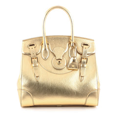 Ralph Lauren Collection Ricky Satchel Leather 33 Gold
