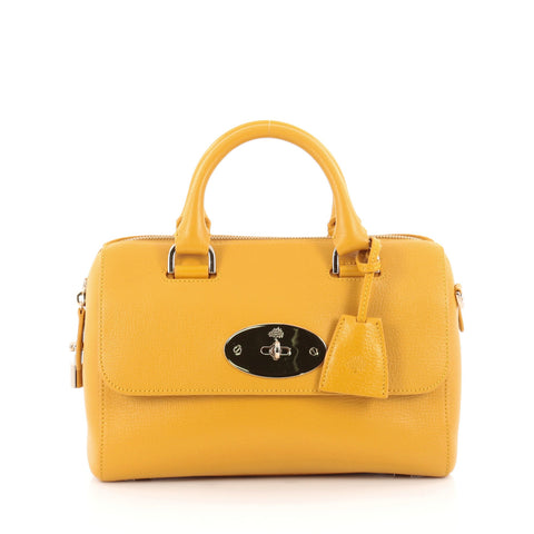 Buy Mulberry Del Rey Bag Leather Small Yellow 1498401 – Rebag f908b1c9cfbf9