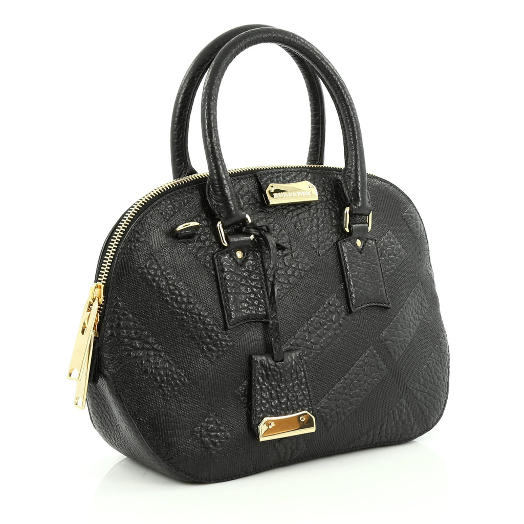 d751d5ebba7a Buy Burberry Orchard Bag Embossed Check Leather Small Black 1502201 ...