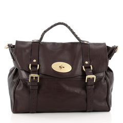 Mulberry Alexa Satchel Soft Buffalo Oversized brown