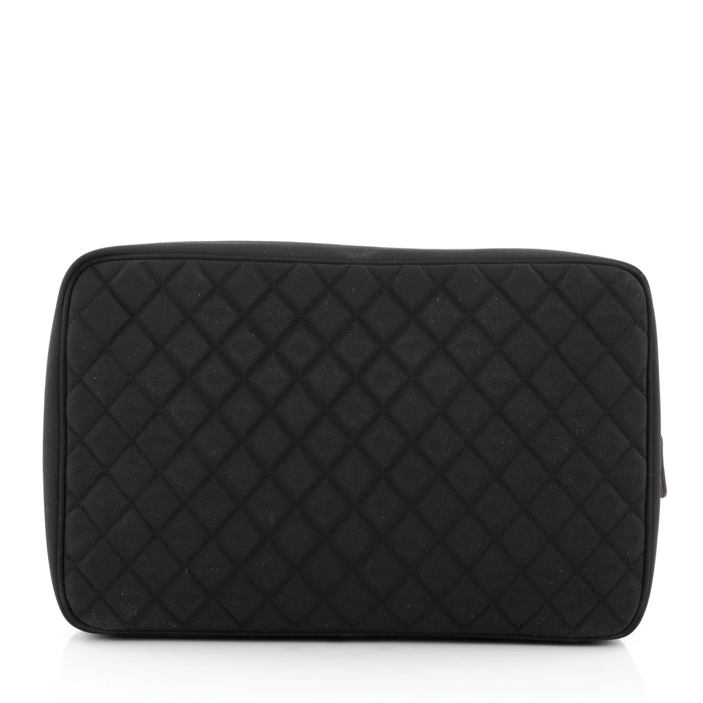 4d828f64494 Buy Chanel Laptop Sleeve Quilted Nylon Black 1507101 – Rebag