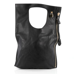 Tom Ford Alix Fold Over Bag Leather Large black