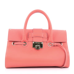 Jimmy Choo Rosalie Convertible Satchel Leather Medium Pink
