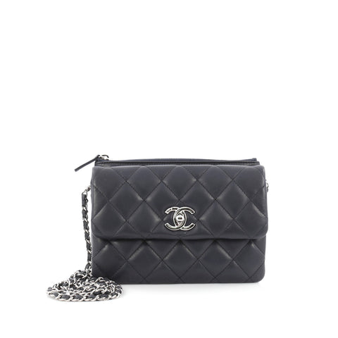 Buy Chanel Daily Zippy Crossbody Bag Quilted Lambskin Small 1514805 – Rebag 238b179728b47