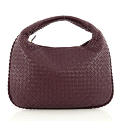 Bottega Veneta Veneta Hobo Intrecciato Nappa Medium Purple