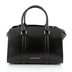 Burberry Dinton Convertible Satchel Patent Medium