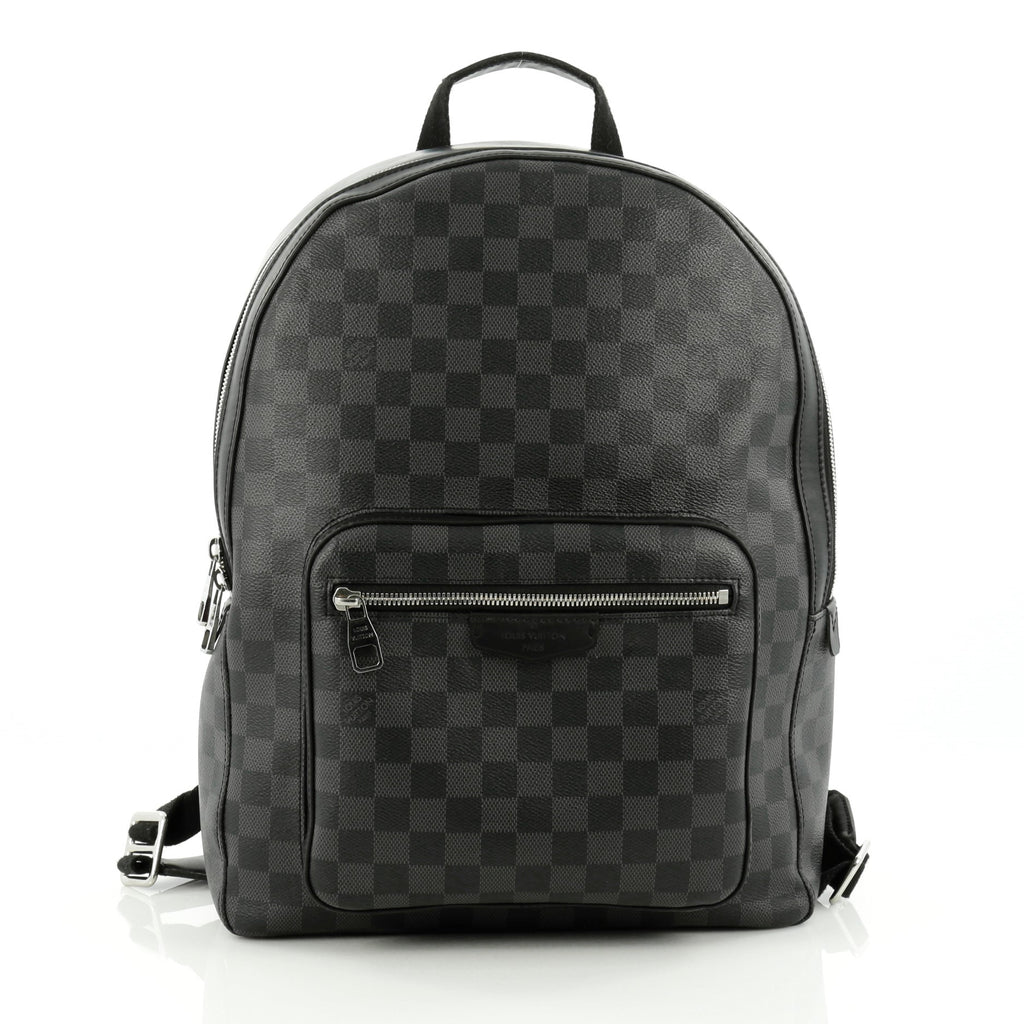 buy louis vuitton josh backpack damier graphite black 1523701 trendlee. Black Bedroom Furniture Sets. Home Design Ideas