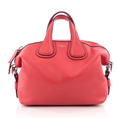 Givenchy Nightingale Satchel Waxed Leather Small Red