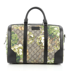 Gucci Convertible Duffle Bag Blooms Print GG Coated Canvas Small
