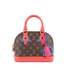 Louis Vuitton Alma Handbag Limited Edition Totem Monogram Canvas BB Brown