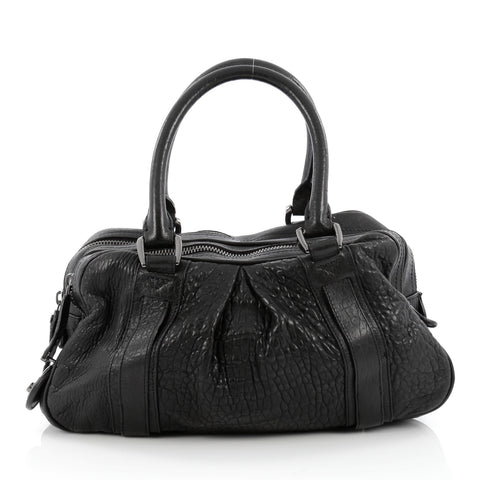 f117daa88b53 Buy Burberry Knight Bag Leather Black 1529801 – Rebag