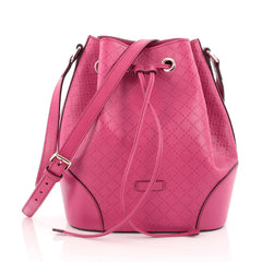 Gucci Bright Bucket Bag Diamante Leather Large pink