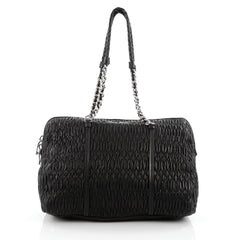 Miu Miu Chain Shoulder Bag Cloquet Leather Large black