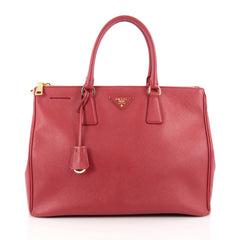 Prada Double Zip Lux Tote Saffiano Leather Large red