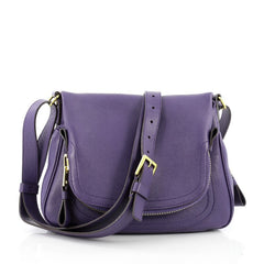 Tom Ford Jennifer Crossbody Bag Leather Medium Purple
