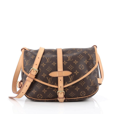 86d28691bad3 Buy Louis Vuitton Saumur Handbag Monogram Canvas MM Brown 1543401 – Rebag