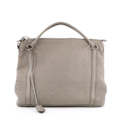 Louis Vuitton Antheia Ixia Handbag Leather MM Gray