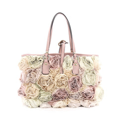 Valentino Rosier Tote Silk Small Neutral