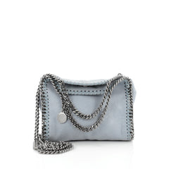 Stella McCartney Falabella Crossbody Bag Shaggy Deer Tiny blue