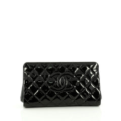 Chanel Timeless CC Clutch Quilted Patent Small black