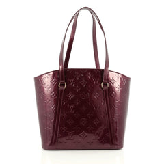 Louis Vuitton Avalon Handbag Monogram Vernis MM purple