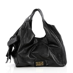 Valentino Nuage Bow Hobo Leather Large black