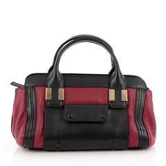 Chloe Alice Satchel Leather Mini Red