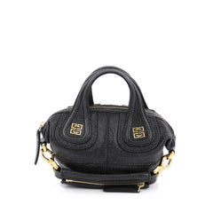 Givenchy Nightingale Satchel Embossed Stingray Mini Black