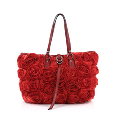 Valentino Rosier Tote Silk Small Red