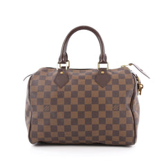 Louis Vuitton Speedy Handbag Damier 25 Brown