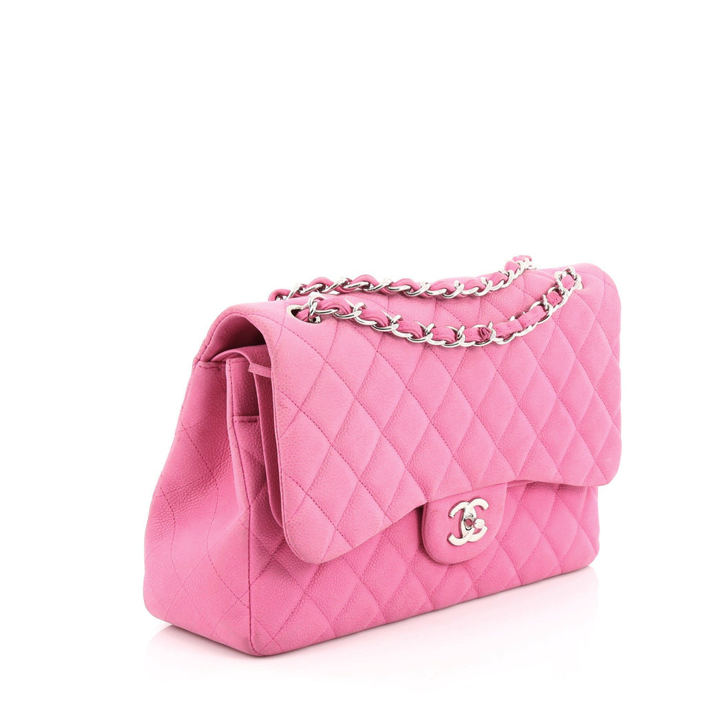 8c17be751b94 Buy Chanel Classic Double Flap Bag Quilted Matte Caviar 1586001 – Rebag