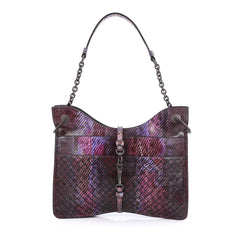 Bottega Veneta Beverly Handbag Intrecciato Python Small