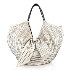 Valentino 360 Bow Hobo Studded Leather Large