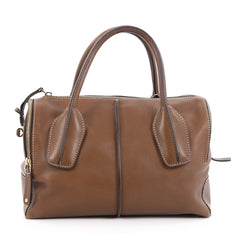 Tod's D-Styling Convertible Bauletto Handbag Leather Small Brown