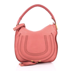 Chloe Marcie Hobo Leather Medium Pink