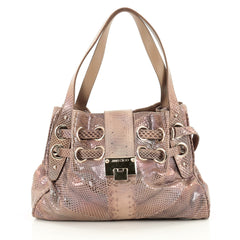 Jimmy Choo Riki Hobo Python Brown