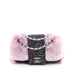 Chanel Fantasy Flap Bag Fur and Tweed Small