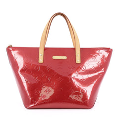 Louis Vuitton Bellevue Handbag Monogram Vernis PM red