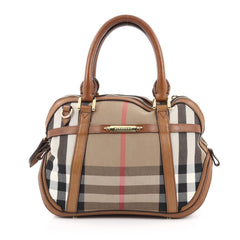 Burberry Bridle Orchard Bag House Check Canvas Small Brown