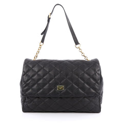 Dolce & Gabbana Miss Kate Shoulder Bag Quilted Vitello Soft Large black