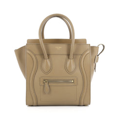 Celine Luggage Handbag Smooth Leather Micro neutral