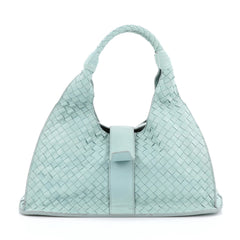 Bottega Veneta Top Flap Hobo Intrecciato Nappa Large Green