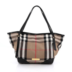 Burberry Canterbury Tote House Check Canvas Small Brown