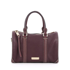 Burberry Alchester Bowling Bag Leather Small purple